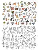 Hand dragen symboler och beståndsdelmodell vektor illustrationer