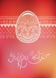Hand-dragen typografi för påskfolkprydnad ägg Royaltyfri Bild