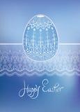 Hand-dragen typografi för påskfolkprydnad ägg Royaltyfri Fotografi