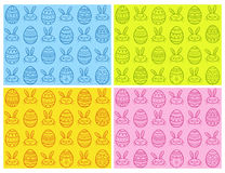 Hand dragen uppsättning för modell för easter ägg sömlös också vektor för coreldrawillustration Royaltyfri Fotografi