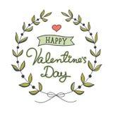 Hand dragen valentin dagkort Royaltyfria Bilder