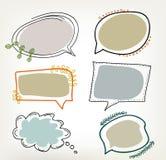 Hand dragen vektoranförandebubbla royaltyfri illustrationer