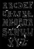 Hand dragit alfabet Arkivfoton