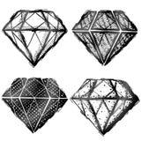 Hand dragit diamantsymbol Royaltyfri Fotografi
