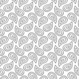 Hand dragit färgpulver Paisley Royaltyfria Bilder