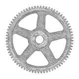 Hand dragit kugghjul också vektor för coreldrawillustration Arkivbild