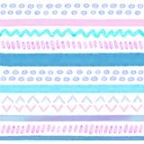 Hand dragit stam- sömlöst för vattenfärg Royaltyfri Bild