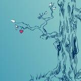 Hand dragit träd Royaltyfri Bild