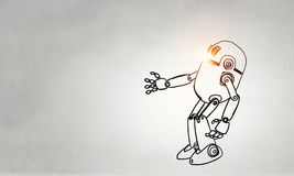 Hand dran robot stock illustratie