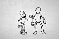 Hand-dran Roboter Lizenzfreies Stockfoto