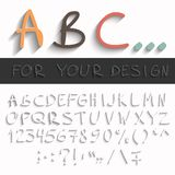Hand draw abc Royalty Free Stock Photography