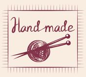 Hand Draw Accessories For Sewing Handmade Design Element Thread. royalty free illustration