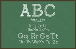 Hand draw alphabet, blackboard / chalkboard, Stock Photography