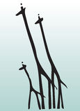 Hand draw animal giraffe Stock Images