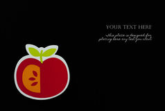 Hand draw apple on black background Royalty Free Stock Image