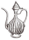 Hand draw arabic pot Royalty Free Stock Photos