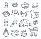 Hand draw baby element Stock Photos