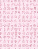 Hand draw baby seamless pattern Stock Image