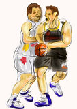 Hand draw basketball player Royalty Free Stock Photography