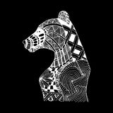Hand draw bear patterns in the style of zentangle Royalty Free Stock Photos