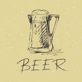 Hand draw beer mug Stock Photo