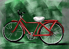 Hand draw bicycle Royalty Free Stock Images