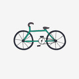 Hand draw bike. Royalty Free Stock Images