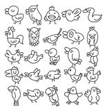 Hand draw bird element Royalty Free Stock Images