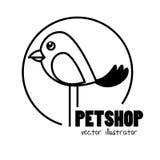 Hand draw bird pet shop concept Stock Photo