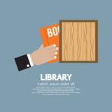 Hand Draw A Book From Shelf Stock Images