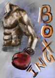 Hand draw boxing Royalty Free Stock Images