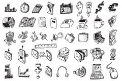 Hand draw business elements Royalty Free Stock Photos