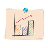 Hand draw Business graph cartoon Royalty Free Stock Image