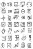 Hand draw business icon collection Stock Photography