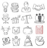 Hand draw business Royalty Free Stock Photography