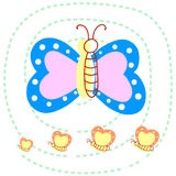 Hand draw Butterfly Royalty Free Stock Images