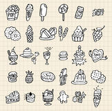 Hand draw cake Royalty Free Stock Images