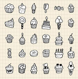 Hand draw cake element Stock Photography