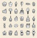 Hand draw cake element. Vector illustration Stock Photography