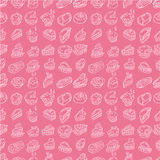 Hand draw cake seamless pattern Stock Photo