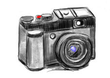 Hand draw camera Stock Photo