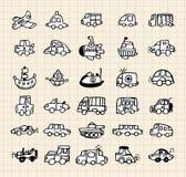 Hand draw car element Stock Photo