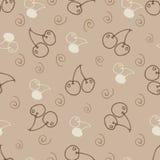 Hand draw cherry  seamless backgroundΠStock Photo