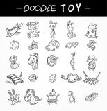 Hand draw child toy icons set Royalty Free Stock Photography