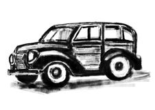 Hand draw Classic cars Stock Images
