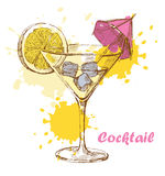 Hand draw cocktail Stock Photos