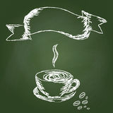 Hand draw coffee Stock Photo