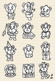 Hand draw cute bear element Stock Images