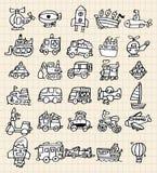 Hand draw cute car element Stock Photos