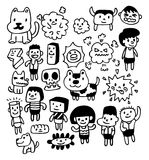 Hand draw cute cartoon Royalty Free Stock Photography